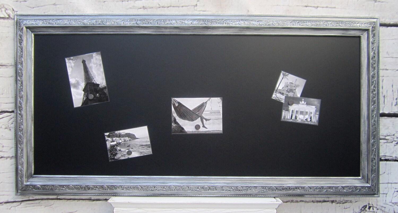Xl Magnetic Chalkboard Silver Framed Huge 54x30 By