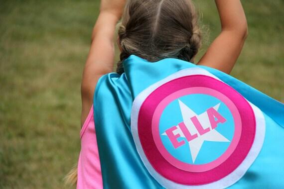 Free mask sale - Girls Superhero Cape - Kids PERSONALIZED SUPERHERO Cape - Cool Mom Picks - Full Name Customized Present