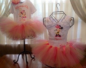 Minnie Mouse Tutu Outfit, Minnie Mouse Outfit, Minnie Mouse Birthday Outfit
