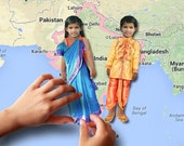 Magnetic paper doll set (India)