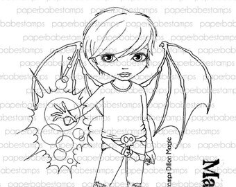Dillon Magic - Paperbabe Stamps - Clear Photopolymer Stamps - For paper crafting and scrapbooking.