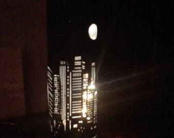 City lights overlay