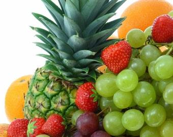 BODY SCRUB ~ Fruit Salad Body Scrub Sugar or Sea Salt Body Polish 8 oz Jar