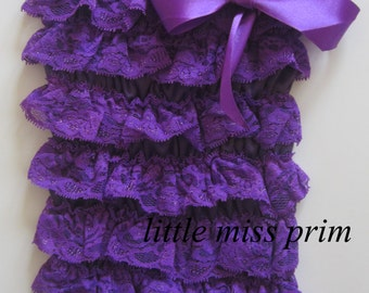 Lace Purple Romper