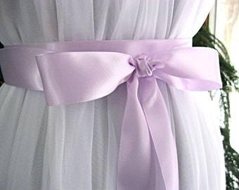 Orchid / Violet wedding sash, bridal sash, bridesmaid sash, bridal belt, 1.5 inch satin