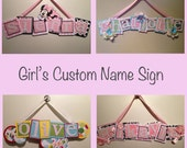 CUSTOM Name Sign--GIRL--Personalized--Baby--Kid--Nursery Decor--Kid's Room