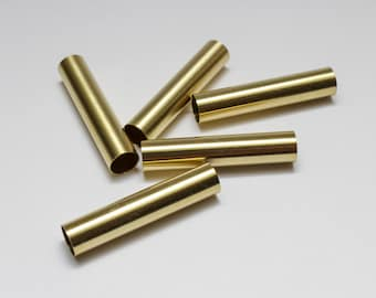 """7mm x 1-1/4"""" Brass Tubes for Bobble Stylus Kits or Other Craft Projects (5-pack)"""
