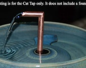 Cat Fountain Accessory For ThirstyCat Fountains of Any Size Handmade, 1-Cat Cat Tap add-on
