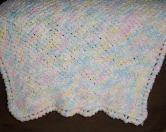 Hand Knitted Fuzzy Soft Baby Blanket
