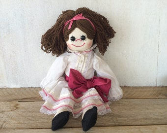 Vintage Handmade Cloth Doll Gwen //  San Francisco // Collectible Handmade Doll // Vintage Toy