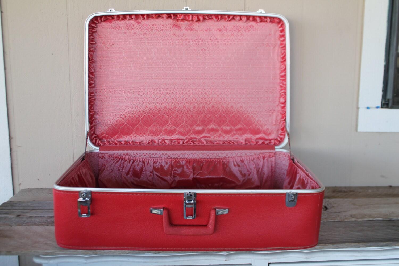 Red Vintage Suitcase Vintage Red Sears Featherlite