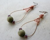 Upcycled Guitar String Earrings