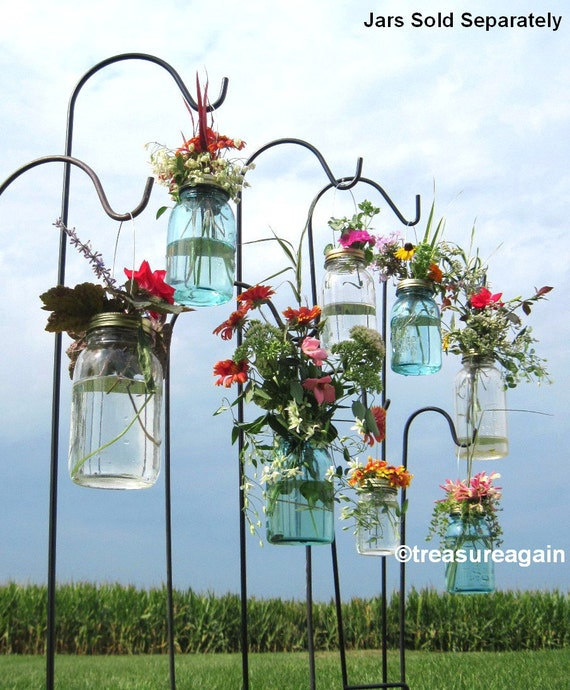 Diy Mason Jar Wedding Ideas: Wedding Aisle Mason Jar DIY Hanging Flower Vases Or Lanterns 8