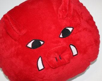Arkansas Razorback Hog Throw/Decorator Pillow - Novelty - Woo Pig Sooie