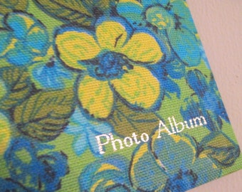 1960s  Floral Photo Album - vintage Guest Book - retro keepsake - in original box