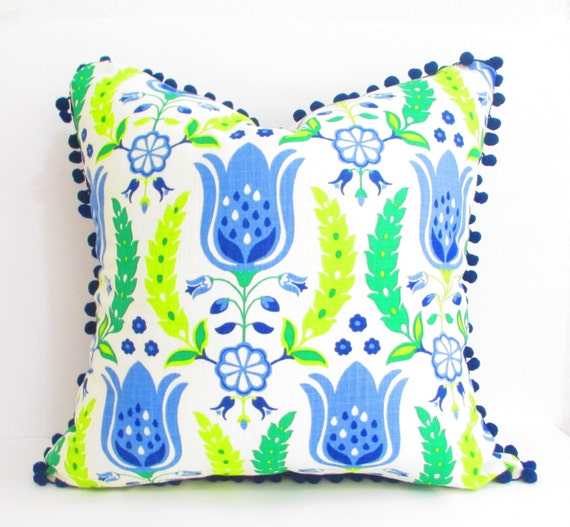Blue Green Pillow Covers Navy Blue And Light Blue 20 Inch