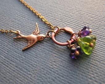 SALE Bird Necklace