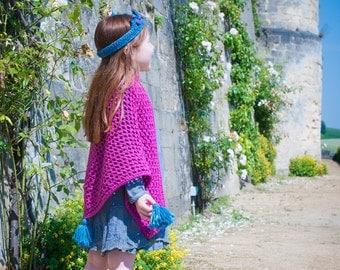 Crochet pattern : shawl (with tassels)