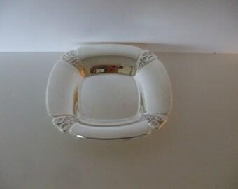 "International Silver Plate Bon Bon Dish, Square, ""Thrumph"" 1048, Vintage, Art Nouveau, Jewelry Dish,  Card Dish,  Wedding"