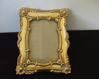 Gold Hollywood Regency  Frame, Ornate, Metal, Shabby Chic,  French Provencial, Mid Century Decor    #