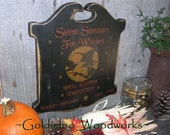 Salem Seminary for Witches, Halloween, Primitive, Folkart, wall sign