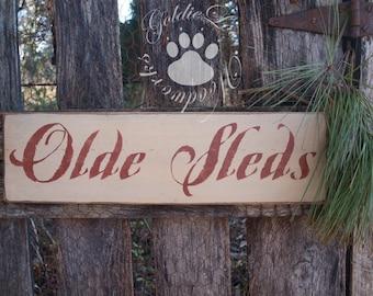 Old Sleds,Winter, Christmas, wall sign,Primitive, Folk Art