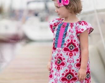 Girls Emersen Peasant Dress - Sizes 6MO - 10