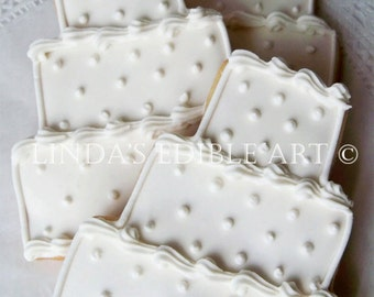 Swiss Dot Wedding Cake Cookie(1 Dozen)