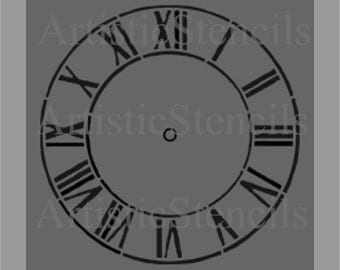 STENCIL Antique Clock 12 Inch