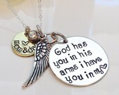 Loss of a loved one necklace-Loss of a child necklace-jewelry Loss of a baby Loss of a mother Loss of father Necklace