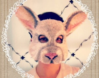 White Rabbit Mask, animal mask, halloween mask, judy hopps mask, zootopia costume, bunny mask, bunny costume, rabbit mask, child or adult