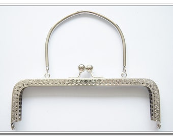 18.5cm  nickel sewing  purse frame bag frame with metal purse handle handbag frame