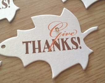 Give Thanks Favor Tags