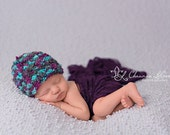 Snow Cone Baby Hat Newborn Photography Prop Blue Purple Gray