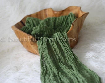 Green Cheesecloth Baby Wrap Cheese Cloth Newborn Photography