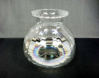 From the 1950's Clear Iridescent Glass Lamp Shade Home and Garden Lighting Accessories Lamp Shades