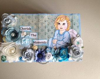 Cherish The Moments Altered Box-One of A Kind-Handmade