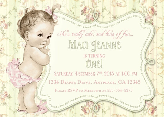 Shabby Chic Birthday Invitations and get inspiration to create nice invitation ideas