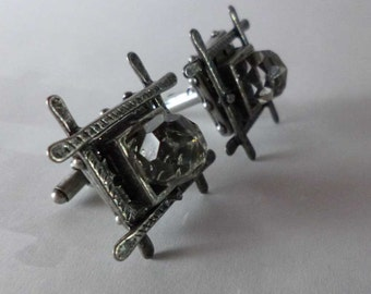 SALE Medieval Gothic Crystal Cufflinks