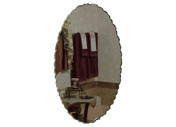 20 X 30 Back Chipped Frameless Oval Bath Mirror