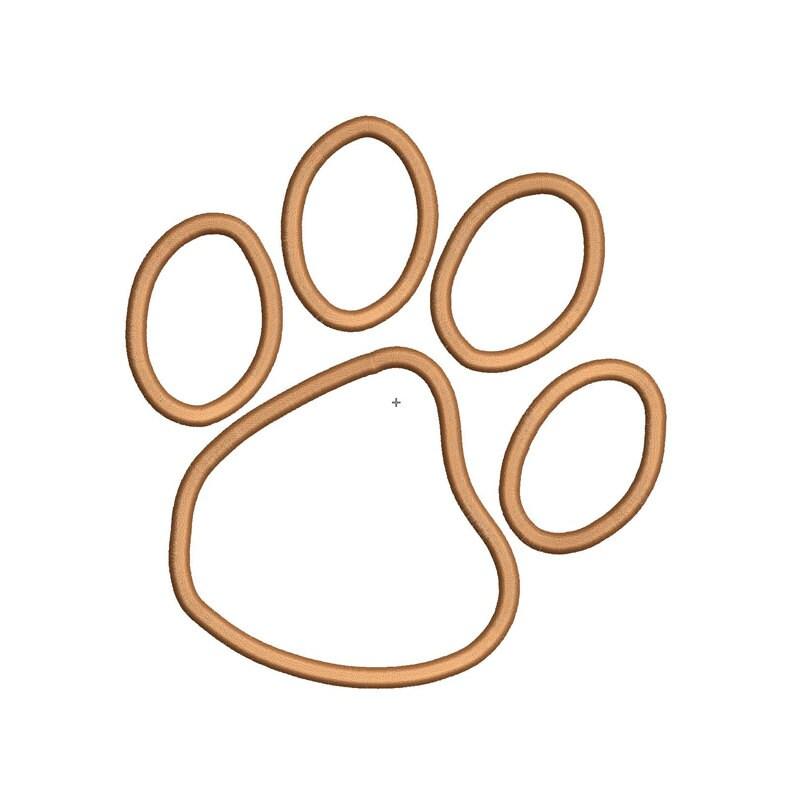 Dog Cat Lion Wildcat Paw Print Applique Design Digitized