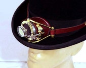 Steampunk Goggles Victorian Theatrical Goth Brass Monocle  BRN LARP Cosplay  - Exclusively from Steampunkdesign