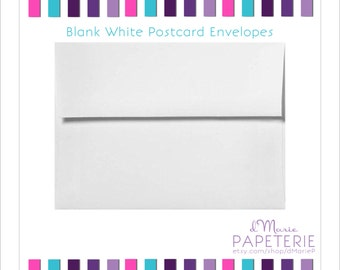 4x6 Blank White Postcard Envelopes (Add-on)