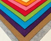 wool blend high quality felt set of 10 different colors, made in Japan felt