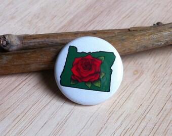 Oregon Rose - 1-inch Pinback Button or Magnet