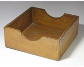 Vintage Small Wooden Letter Tray/Storage Box
