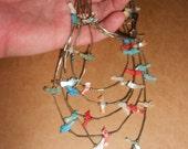 Bird Fetish Bib Necklace Navajo Liquid Silver Native American Vintage Sterling  Earthy Tribal Style