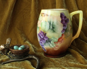 Vintage Hand Painted R C Rosenthal Bavaria Grapes Tankard  Sale was 68.00