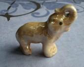 Vintage Miniature Elephant Iridescent Gold Trinket