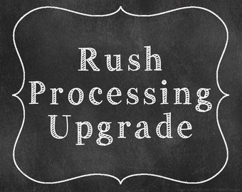 I Need It Fast!  Rush Order Processing Upgrade